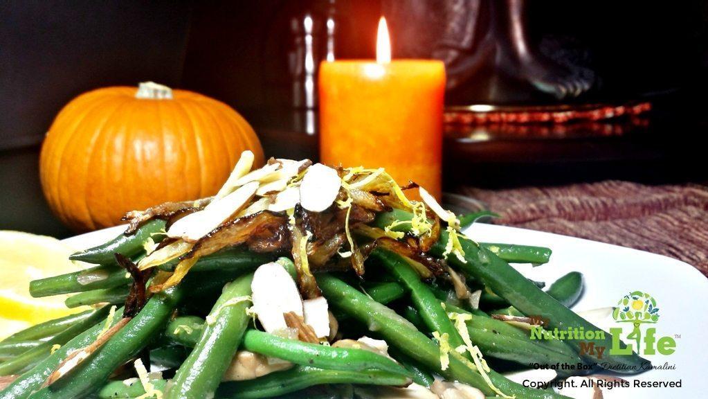 lemon garlic green beans and mushroom
